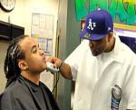 Bobby Brackins @ Phat Fades Prepp'n for Photo Shoot