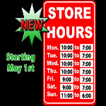 New Store Hours for Phat Fades (Starting May 1st)
